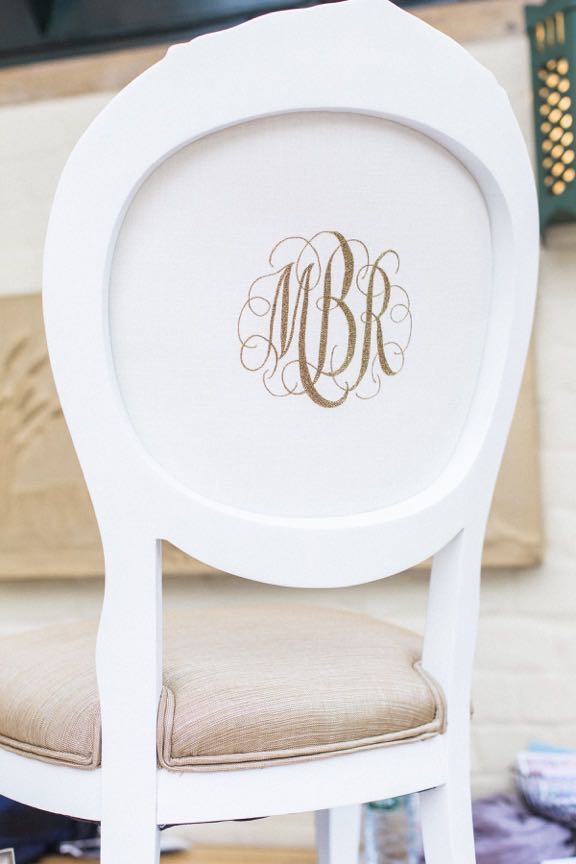 Monogram Wedding Chair 1