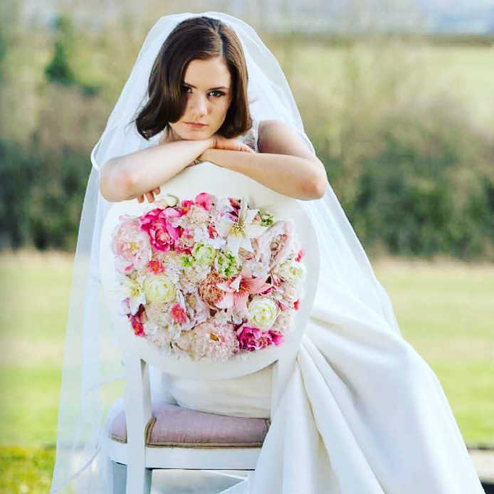 Bride Sat On Floral Couture Chair